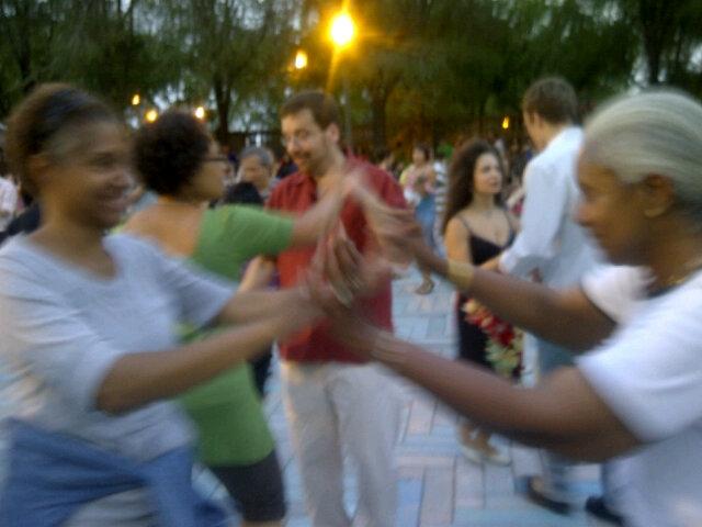 Nikki (left) & Rosie dancing under the stars