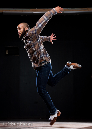 Jumaane Taylor // The Bearded Hoofer - One of the tap artists at Chicago Human Rhythm Project's 2013 showcase at Jazz Showcase