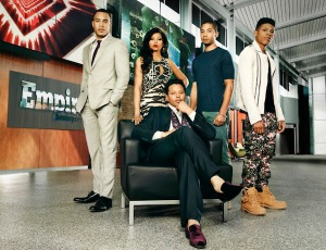 "Empire ""family"" from left to right: Trai Byers, Taraji P. Henson, Terrence Howard, Jussie Smollett, Bryshere Gray"